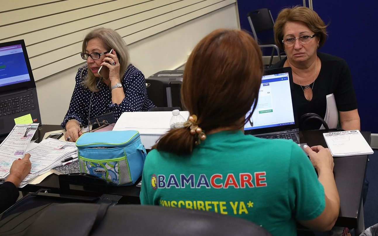 People sign up for Affordable Care Act