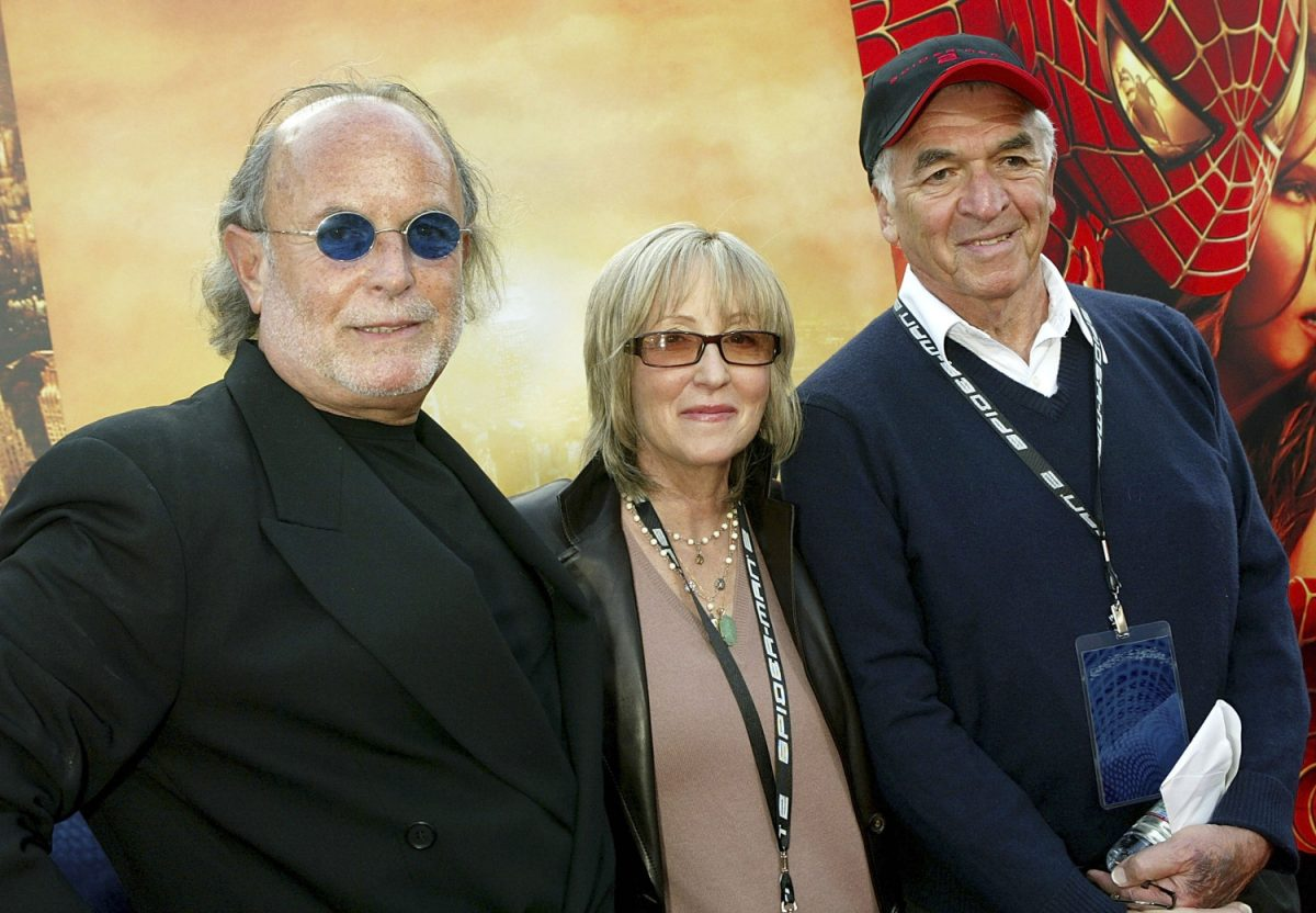 """Producers Avi Arad, Laura Ziskin and writer Alvin Sargent attend the premiere of the Sony film """"Spider-Man 2"""""""