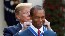 Trump Awards 'Legend' Tiger Woods the Presidential Medal of Freedom