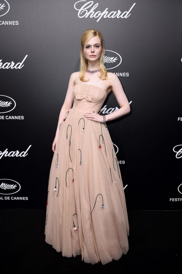 Elle Fanning attends the Official Trophee Chopard Dinner