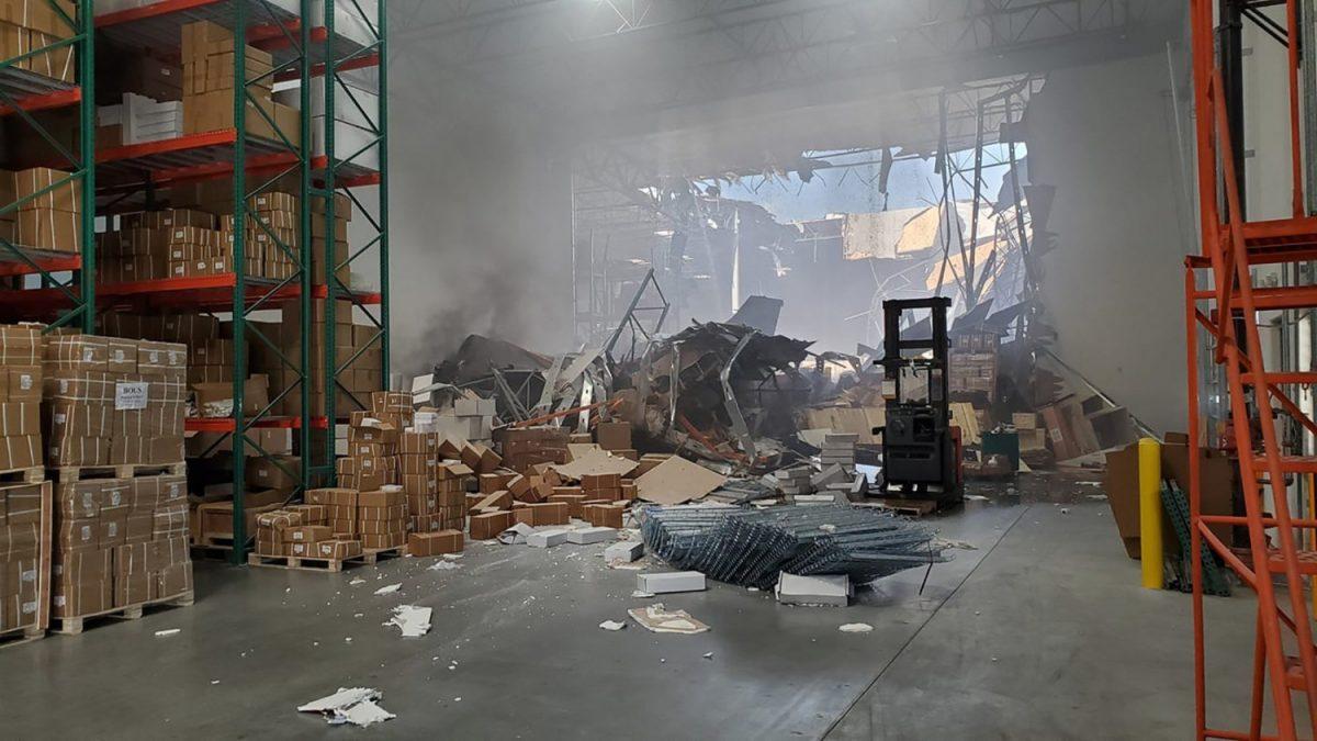 F-16 warehouse crash