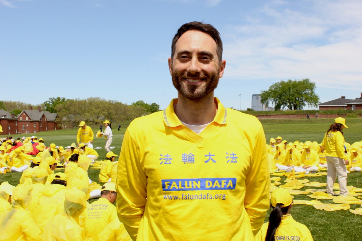 Falun Gong practitioner Fabio Cotroneo
