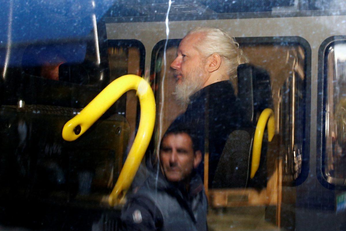 Julian Assange in custody