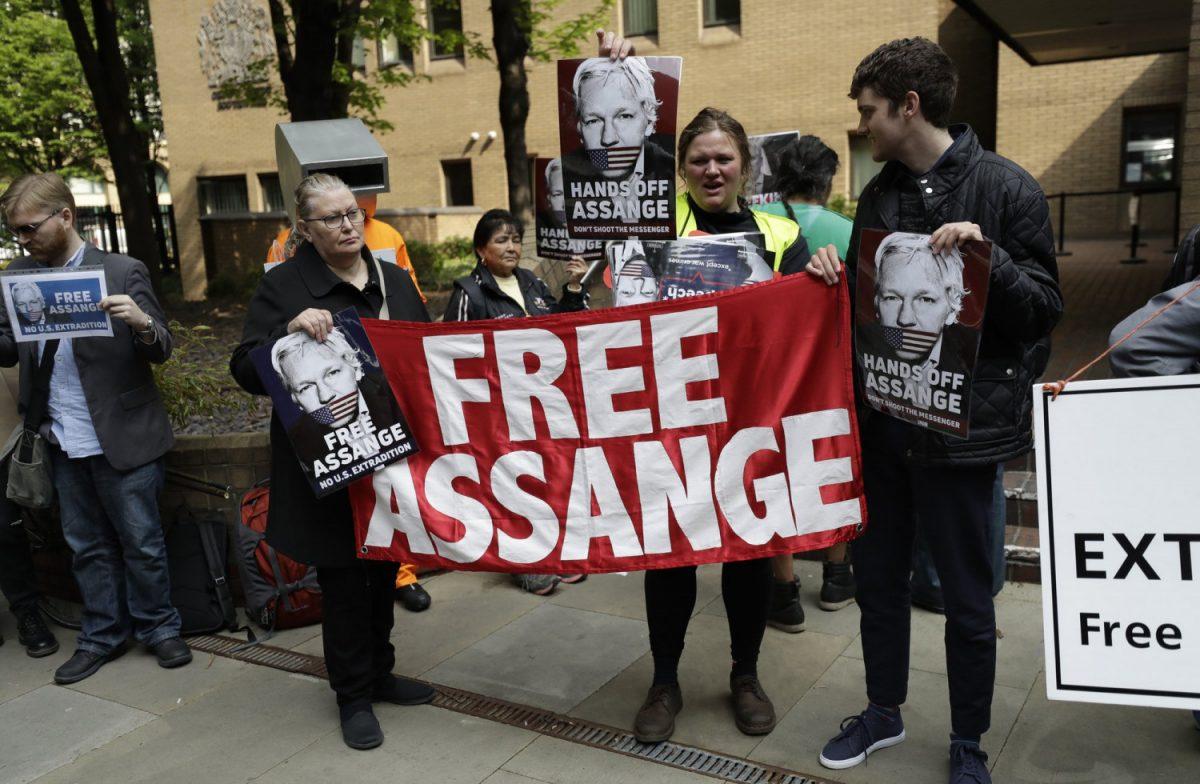 Julian Assange protesters