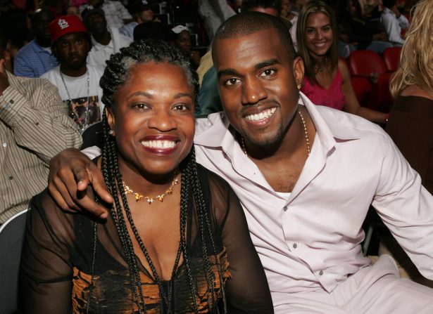 Kanye West and his mother attend the 2004 MTV Video Music Awards