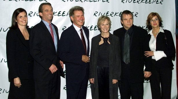 (L to R) Mary Kennedy, Robert F. Kennedy, Jr. actor Harrison Ford, actress Glenn Close, singer Meatloaf and Debroah Gillespie attend the Riverkeeper dinner