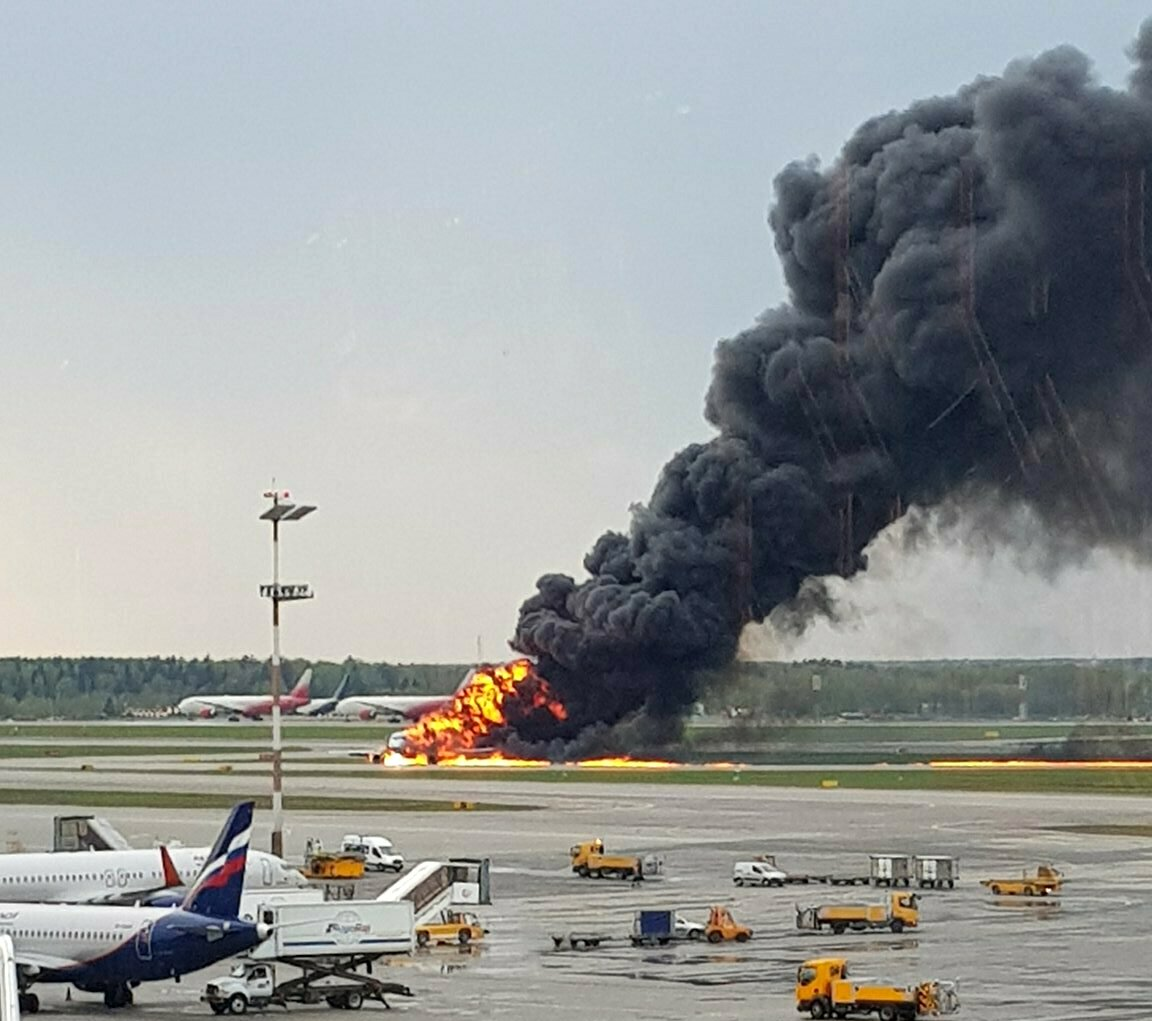 Moscow airplane crash 2