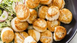 To Brighten Scallops, Why Not Try a Sugar Snap Pea Slaw?