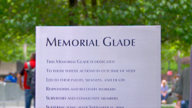 9/11 Memorial Glade Opens, Honoring Rescue Workers
