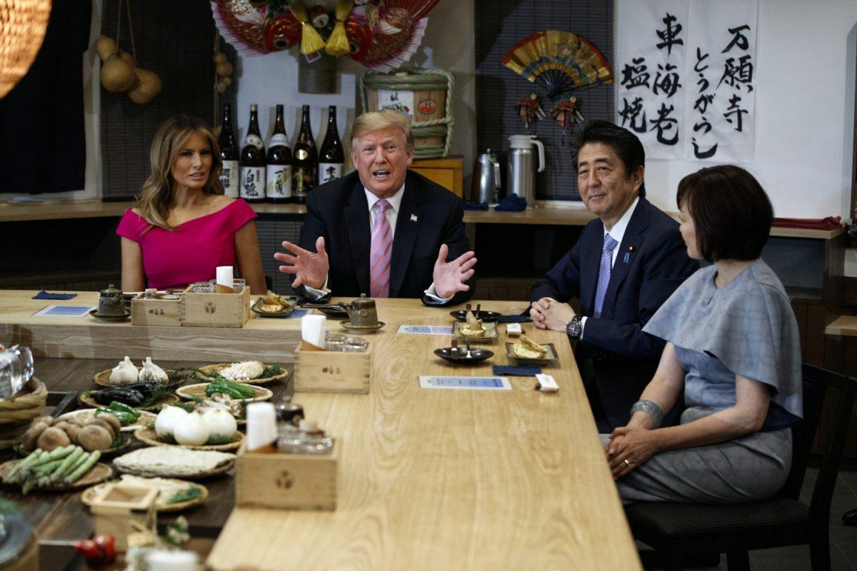 Trump, Melania, Abe