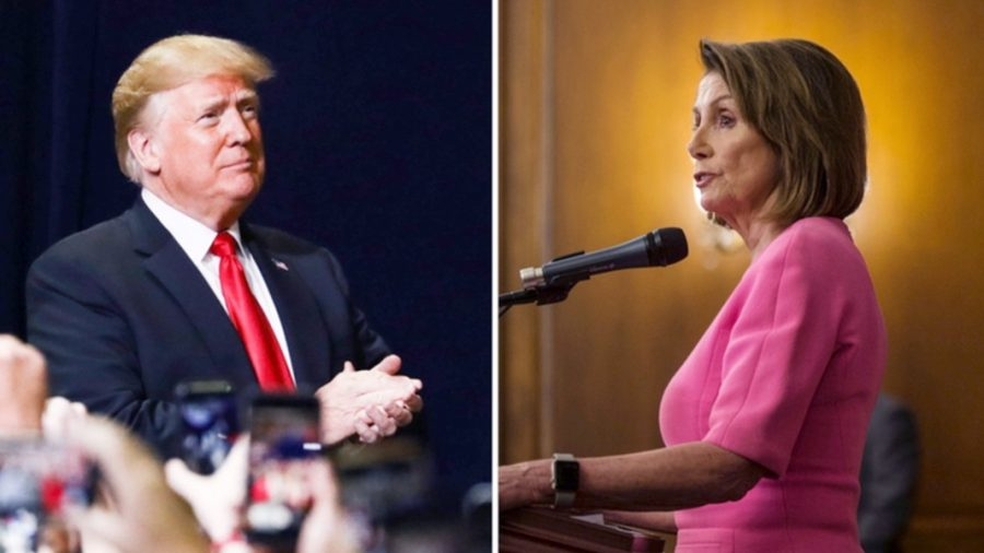 Trump has aides vouch he's 'very calm' after Pelosi barbs