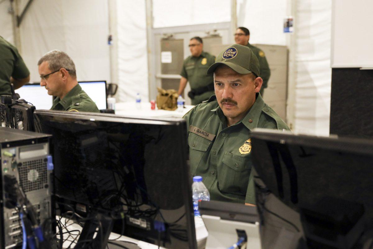 a border patrol agent working