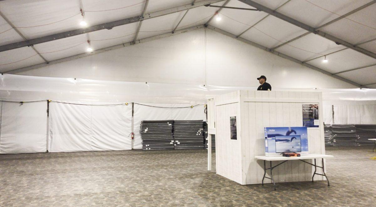 border patrol tent, facility