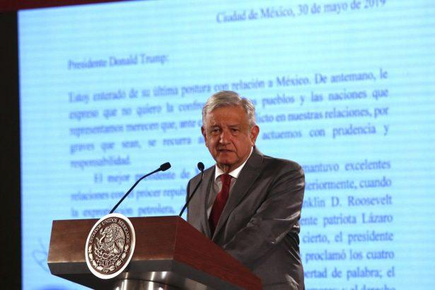 Mexico's President Andrés Manuel López Obrador says Mexico will not respond to U.S. President Donald Trump's threat of coercive tariffs
