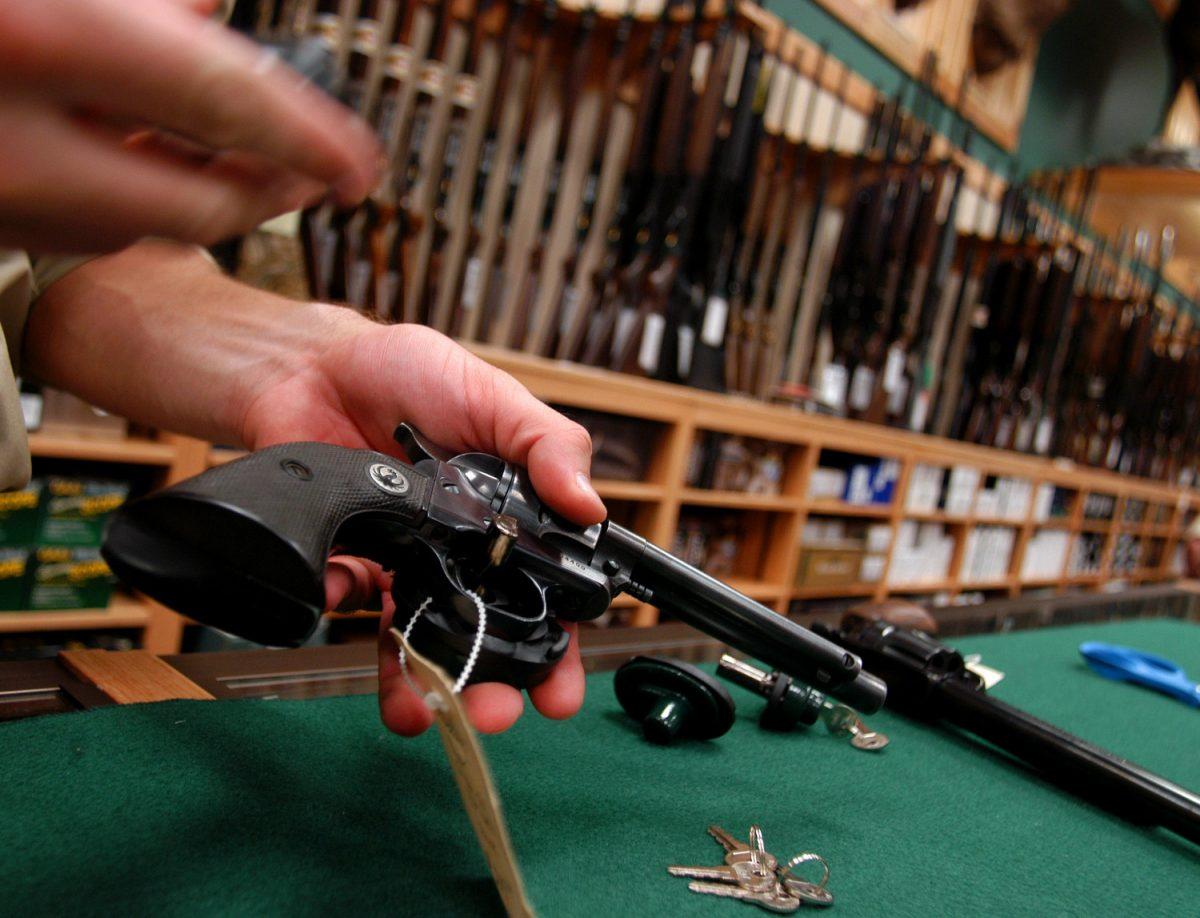 gun with a gun lock
