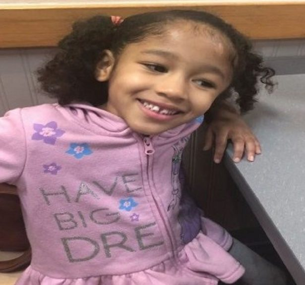 Police say the girl was last seen in blue pickup truck with the three men,