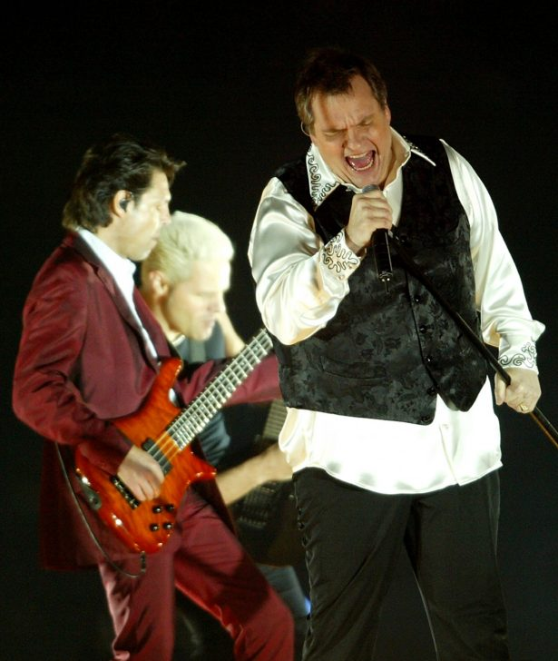 Singer Meat Loaf performs prior to the NRL Grand Final