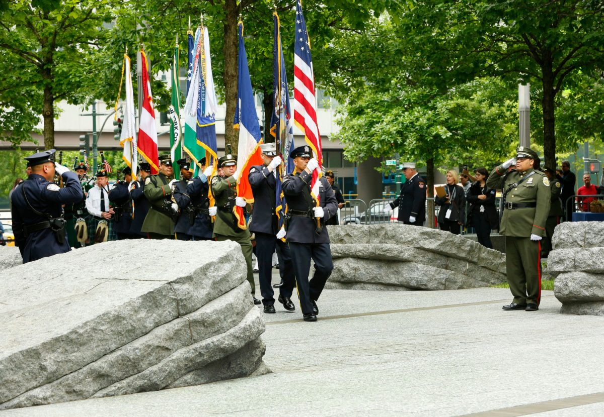 9/11 Memorial Glade dedication ceremony on May 30, 2019.
