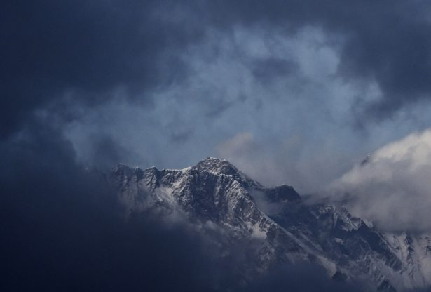 File image of Mount Everest taken from the village of Tembuche in the Kumbh region of north-eastern Nepal