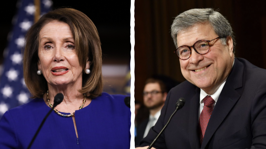 'Did You Bring Your Handcuffs?' Barr Jokes With Pelosi
