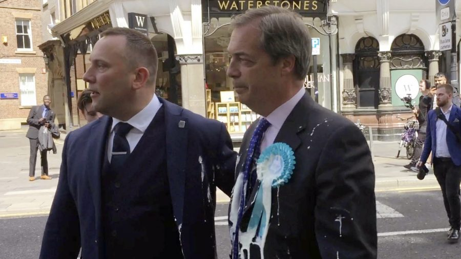 Man Arrested and Charged with Assault After Throwing Milkshake at Politician