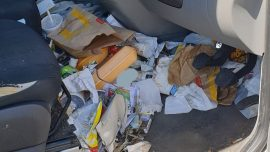 Driver Fined Over 'Dangerous' Number of Fast-Food Wrappers, Trash in Car