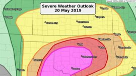 Weather Forecast Shows 'Violent' Tornado Outbreak in Texas and Oklahoma as Schools Shut Down