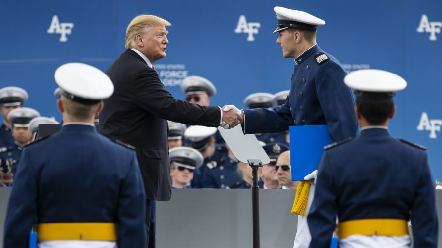 Trump Shakes Hand of Every Air Force Academy Graduate