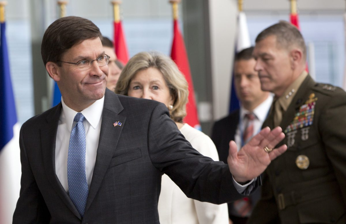 Acting U.S. Secretary for Defense Mark Esper
