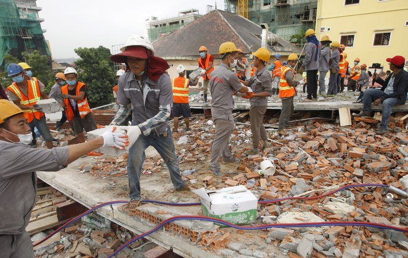 7 Workers Dead, 23 Injured in Cambodia Building Collapse