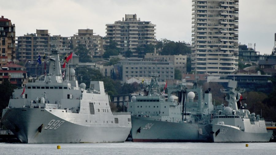 Three People's Liberation Army Ships Dock in Sydney Harbour for 4 Day Stopover