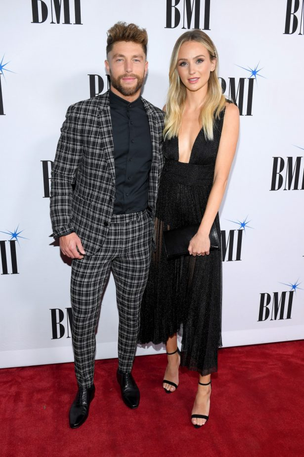 Chris Lane and Lauren Bushnell attend the 66th Annual BMI Country Awards