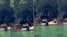 Viral Video Shows Texan Boaters Trying to Chug Liquor Before Police Dump it into River