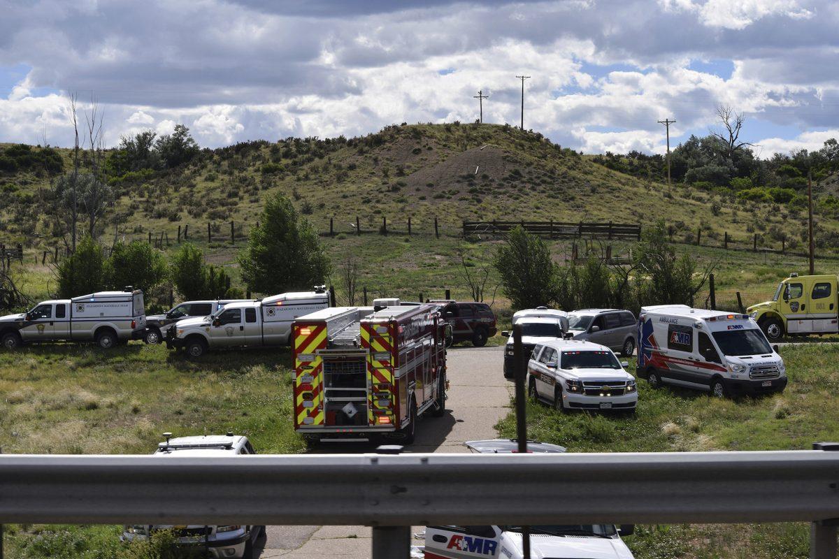 Emergency crews respond to a bus crash