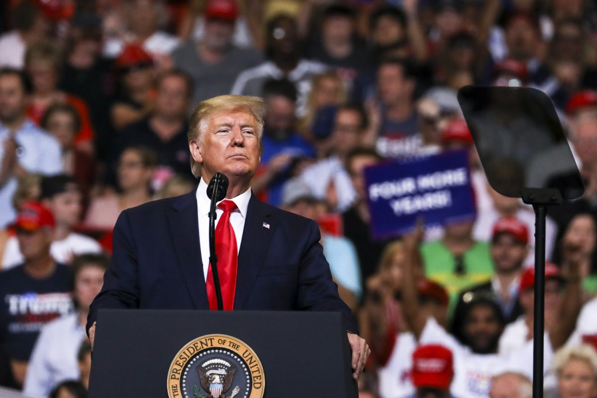 Trump at his 2020 re-election event in Orlando