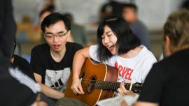HK Protesters Sing Christian Hymn, Tidy The Streets As They Appeal for Freedom