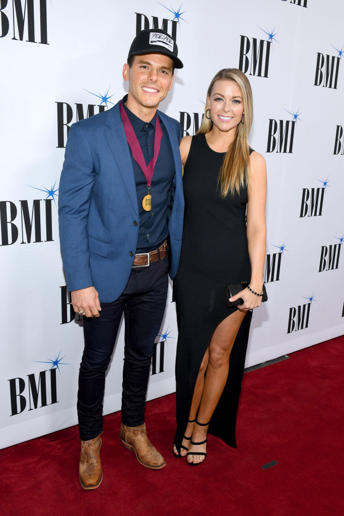 Recording artist Granger Smith and Amber Bartlett attend the 66th Annual BMI Country Awards