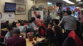 Chinatown Watch Party Supports Republican Mayoral Candidate to Echo Trump's Reelection Campaign