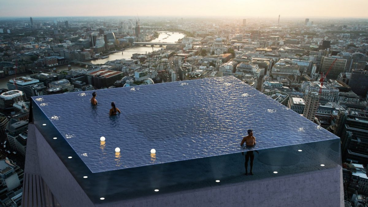 World S First Death Defying Infinity Pool Sparks