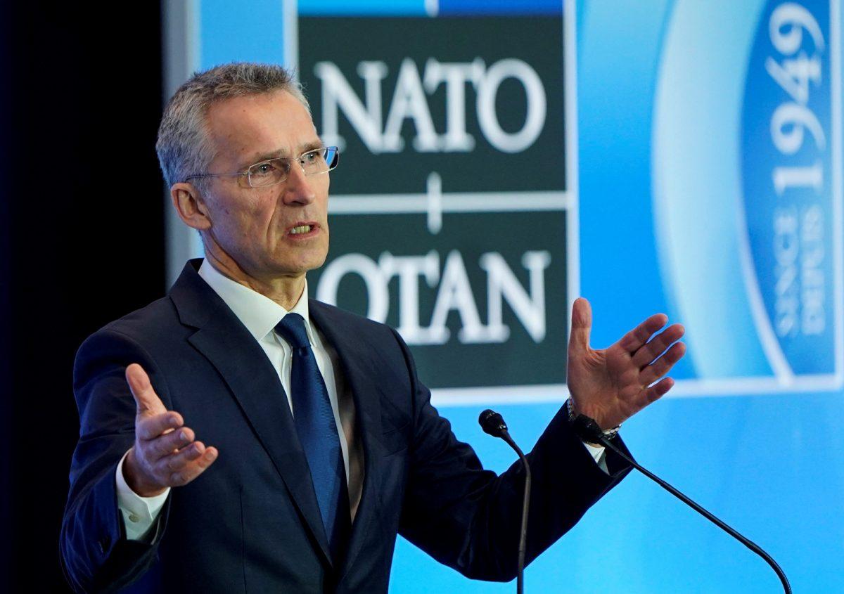 NATO Secretary General Jens Stoltenberg speaks