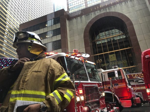New York City firefighter responds to the scene