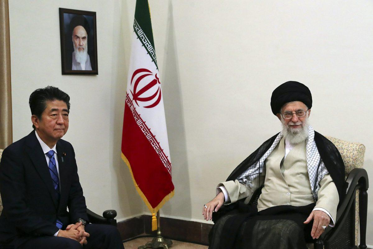 PM Shinzo Abe and Ali Khamenei