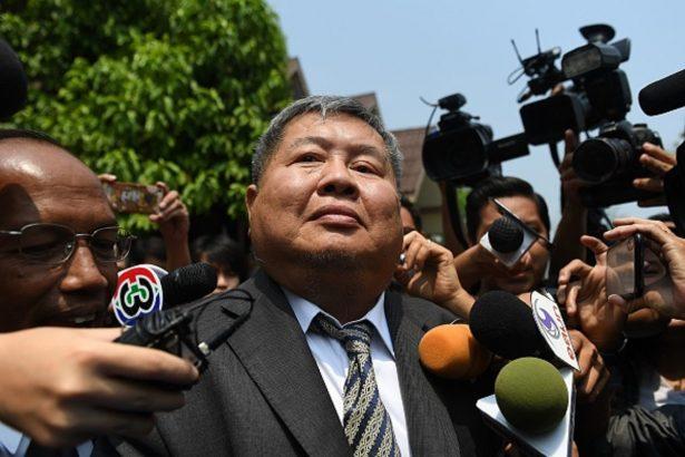 Premchai Karnasuta leaves the court after hearing
