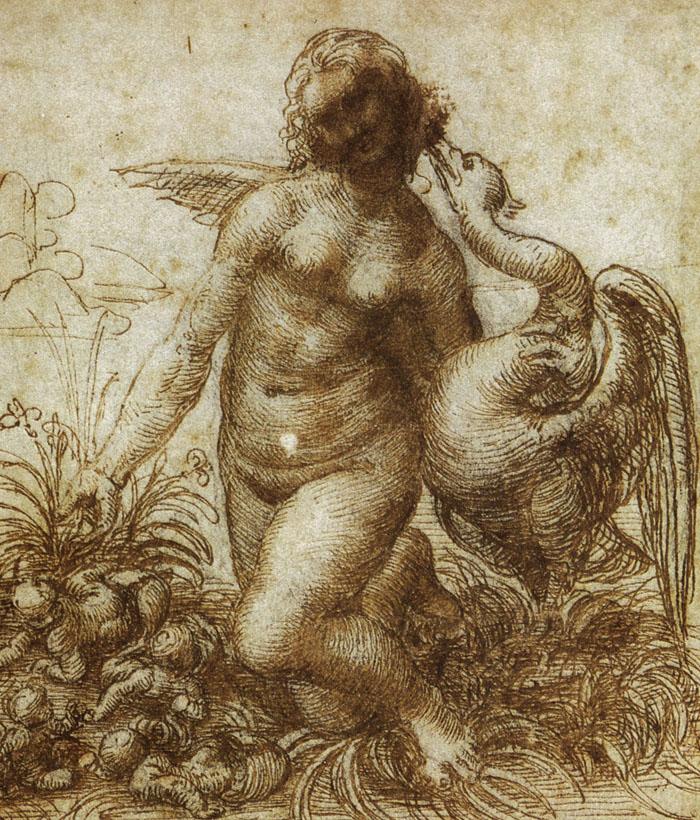 Leda and the Swan by Leonardo Da Vinci (Public Domain)