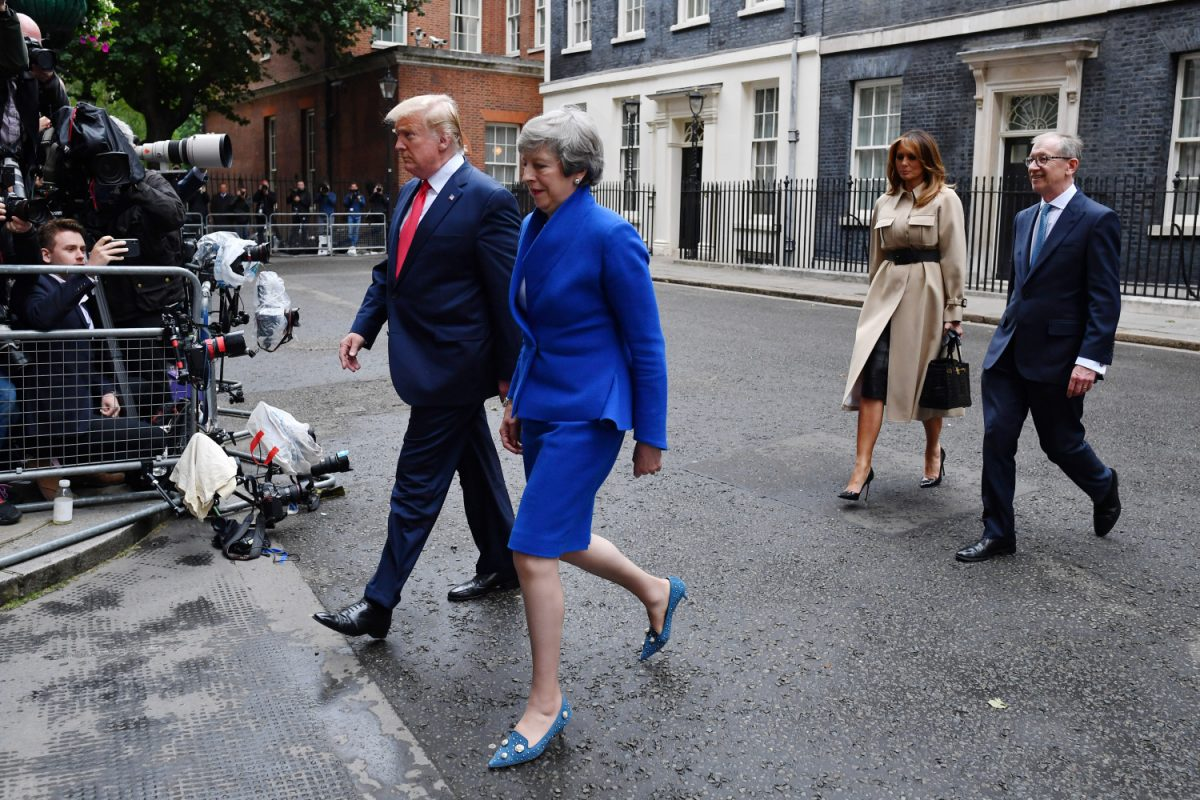 President Donald Trump, Prime Minister Theresa May
