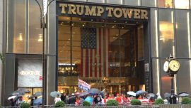 Trump Supporters Rally Outside Trump Tower in New York