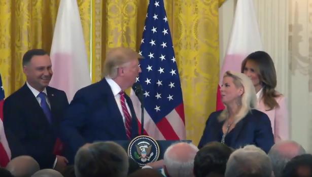Rita Cosby and Donald Trump