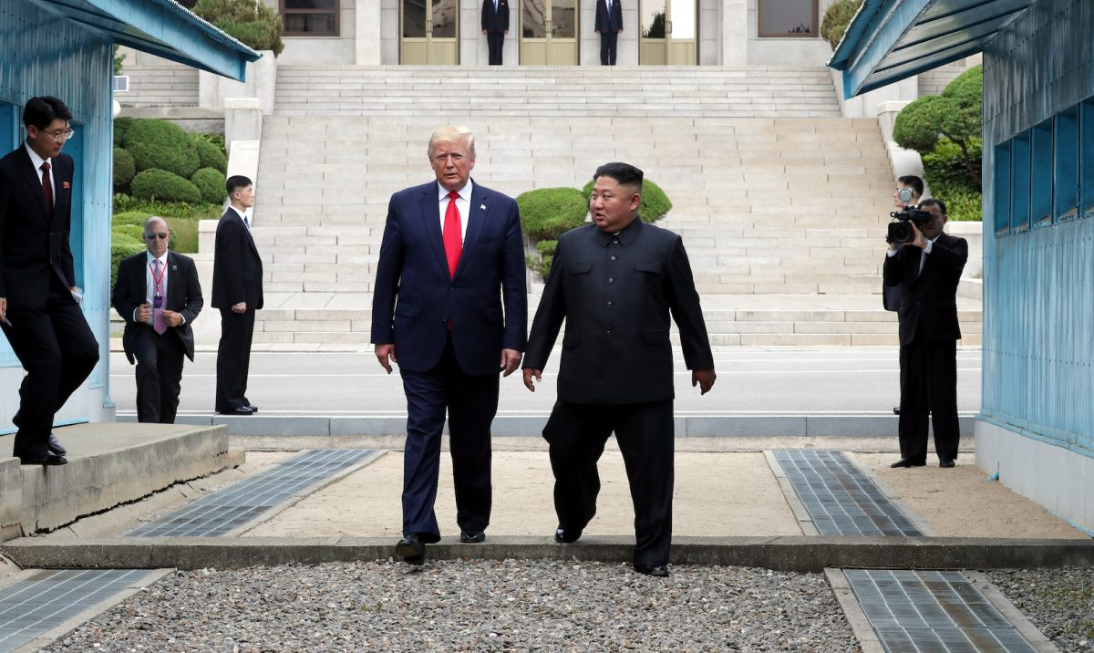 Historic Moment at the Korean Demilitarized Zone
