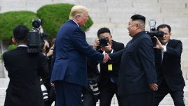 Trump and Kim Shake Hands at DMZ in Historic Show of Diplomacy From Both Sides