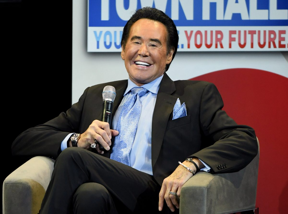 """Entertainer Wayne Newton speaks during a town hall meeting on the opioid crisis as part of first lady Melania the first lady's """"Be Best"""" initiative"""